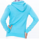 Sweat capuche LOST COAST bleu lagon