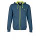 Sweat CONTRAST bleu capuche à zip