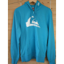 Sweat  bleu lagon capuche à zip
